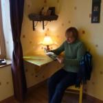 Bureau de la chambre marron - Gîte en Lorraine