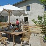 Repas en terrasse - vacances en famille - Meuse
