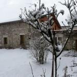 Un hiver à la campagne - le gîte sous la neige