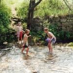 Les plaisirs de la campagne : baignade en rivière