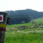Chemins de randonnées balisés dans les côtes de Meuse