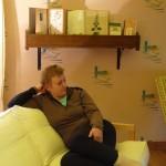 Le salon à l'étage du gite du moulin aux champs en Meuse